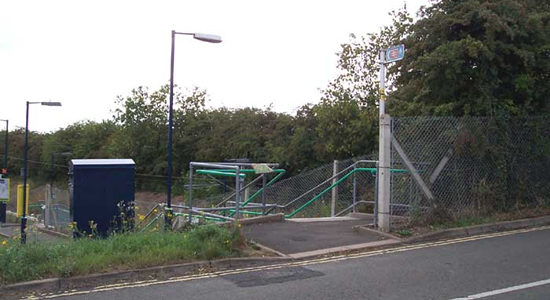 Alvechurch Station entrance from Station Road