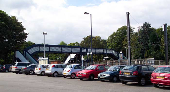 Barnt Green station Entrance from car park
