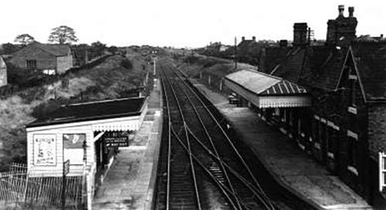 Brownhills station, 1950s (Clive Roberts)