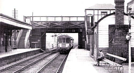 Darlaston station 1963 (P.J.Shoesmith)