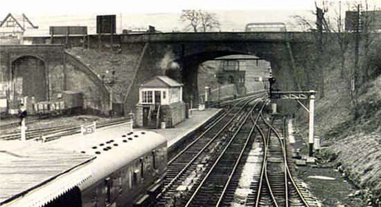 Dudley Station 1956 (photo: Dudley Library)