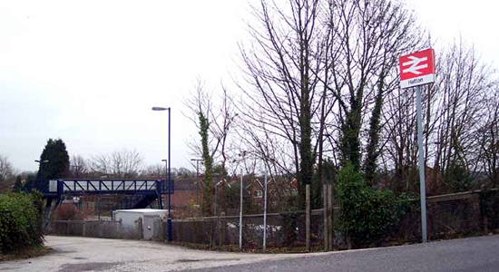 Hatton station entrance, Station Road