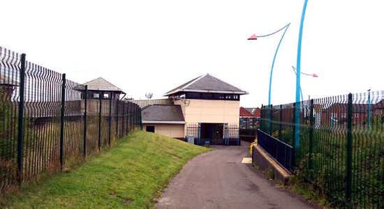 The Hawthorns station building