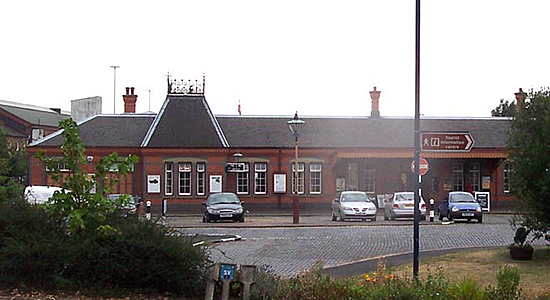 Kidderminster station building on the Severn Valley Railway