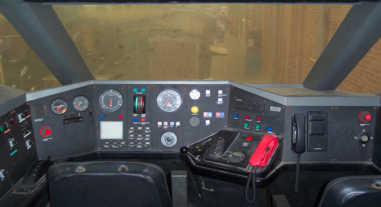 Cab view of a British Rail APT