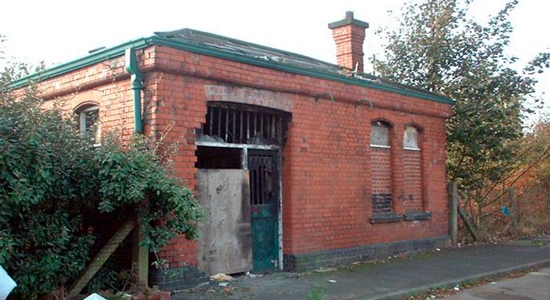 Smethwick West disused station booking office