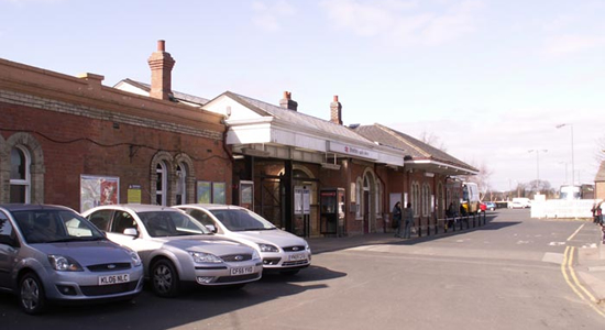 Stratford upon Avon station booking office