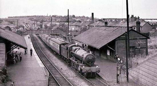 Swan Village station 1957 (M Mensing)