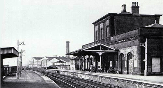Wednesbury Central station 1966