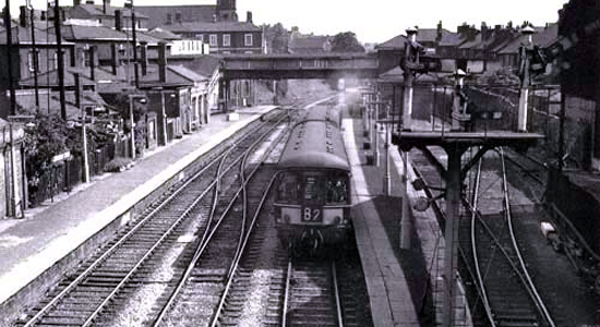 Wednesbury Town station 1963 (MJ Fox)