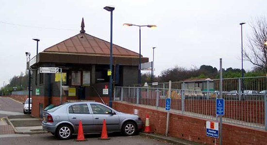 Widney Manor station booking office