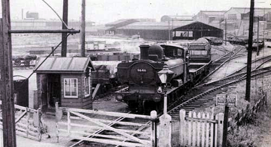 Withymoor Goods station during the 1960s (Ned Williams)