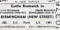 Castle Bromwich station ticket