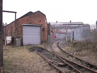 Longbridge works railway engine shed