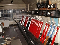 Longbridge works railway signal box levers
