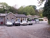 Matlock station entrance and station building