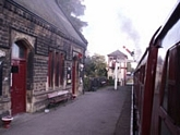 Darley Dale station up platform buildings