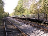 Wooden halt platform at Matlock Riverside