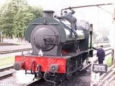 Saddle tank Royal Pioneer at water tower