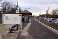 Acocks Green station destination board