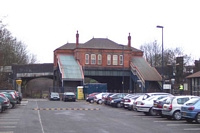 Rear of Acocks Green station bulding towards Birmingham