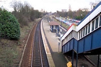 Acocks Green station from Sherbourne Road bridge