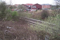 Aldridge station site from Station Rd
