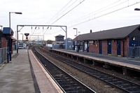 Aston station Looking towards the City