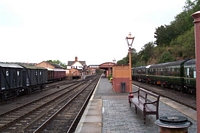 Bewdley station from Kidderminster end of island platform