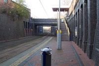 Bilston Central Midland Metro stop looking towards Birmingham