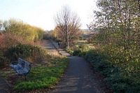 Bilston Central station Railway Drive, station site to right