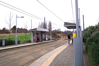 Black Lake Midland Metro stop looking towards Wolverhampton