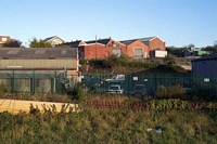 Brettell Lane station site from yard