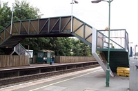 Bromsgrove station footbridge from Birmingham platform