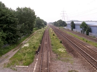 Castle Bromwich Station towards Water Orton