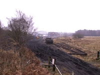 Lifted track to Chasewater Heaths station