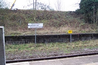 Claverdon station train direction indicator