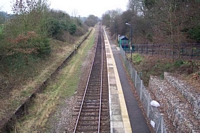 Claverdon station from Station Road bridge