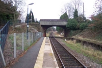 Claverdon station looking towards Leamington Spa