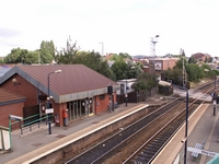 Cradley Heath station towards Old Hill from footbridge
