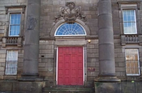 Curzon Street station building doorway