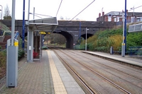 Dartmouth Street Midland Metro stop towards West Bromwich