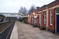 Dorridge station Leamington Spa platform buildings