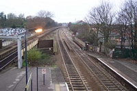 Dorridge station from footbridge