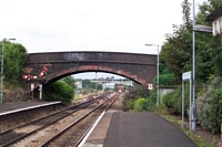 Droitwich Spa station road overbridge