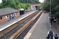 Droitwich Spa station from footbridge