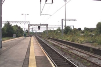 Duddeston station looking towards Birmingham