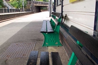 BR Western Region bench at Four Oaks station