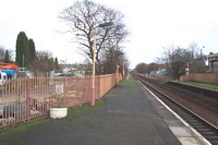 Hall Green station looking towards Birmingham