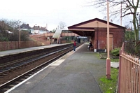 Hall Green station looking towards Stratford-upon-Avon